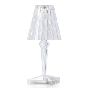 BATTERY LED TABLE LAMP CHROME - Kartell