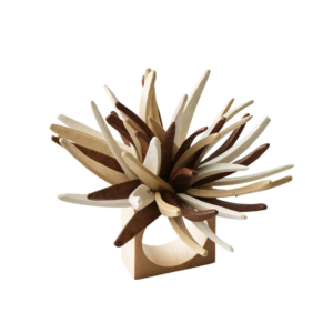 Quill Napkin Ring in Natural & Brown