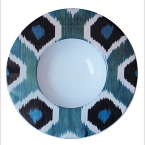 deep ceramic ikat plate
