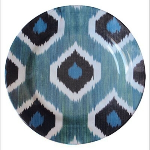 Blue Ceramic Dinner Plate