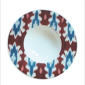 IKAT ceramic deep plate