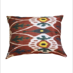 SILK VELVET IKAT CUSHION