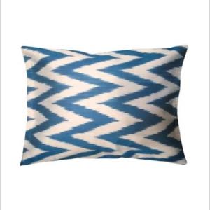 handmade ikat silk cushion