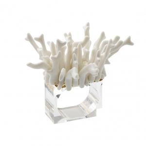 Amalfi White Coral Napkin Ring