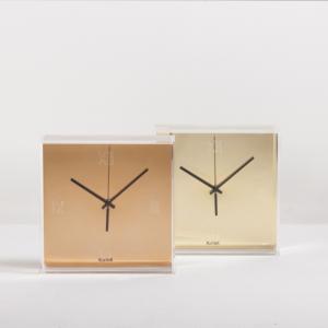 Gold Tic & Tac Clock