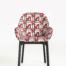 Black Frame Geometrico Rosso Chair