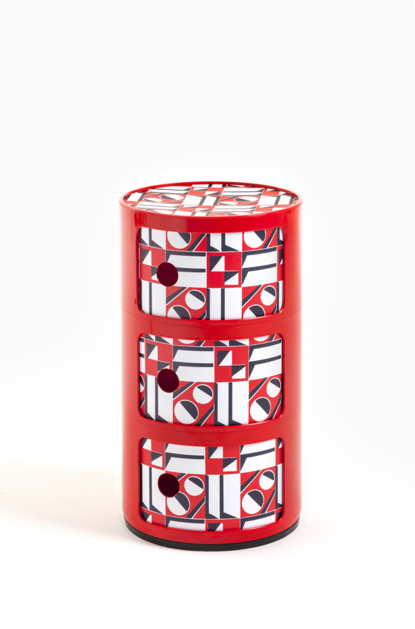 Red-Geometrico Rosso Cabinet