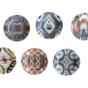IKAT ceramic dinner plate set