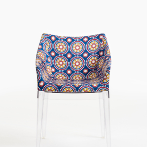 Crystal Frame Ruote Chair