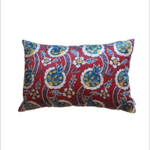 Hand embroidered silk suzani cushion