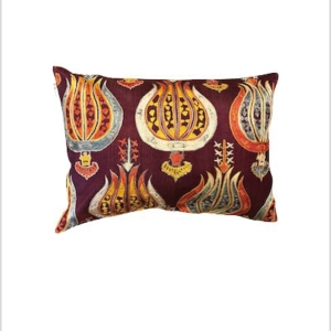 Embroidered silk cushion