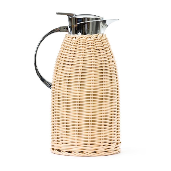 Rattan Wrapped Thermos