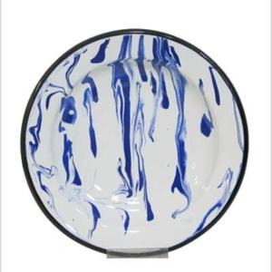 Blue enamel deep plate