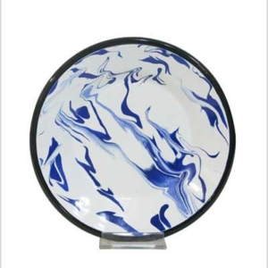 Blue enamel fruit plate