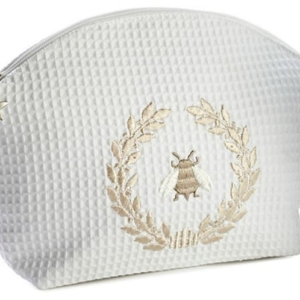 Cosmetic Bag (Large) - Napoleon Bee Wreath (Beige)