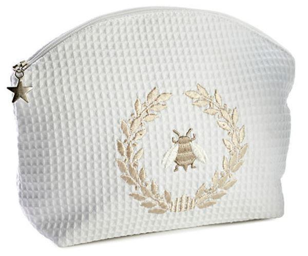 Cosmetic Bag (Large) - Napoleon Bee Wreath (Beige)