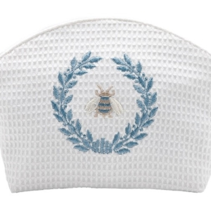 Cosmetic Bag - Napoleon Bee Wreath (Duck Egg Blue)