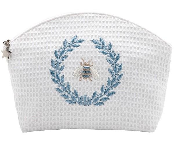 Cosmetic Bag - Napoleon Bee Wreath (Duck Egg Blue)