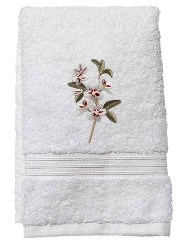 Guest Towel, Terry - Apple Blossom (White)