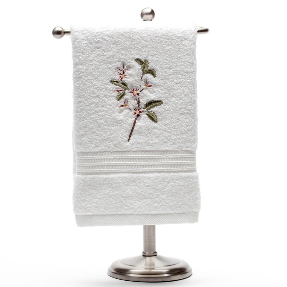 Guest Towel, Terry - Apple Blossom (White)2