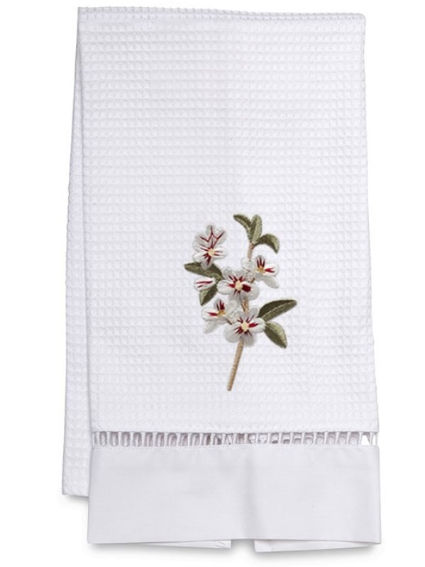 Guest Towel, Waffle Weave - Apple Blossom (White)