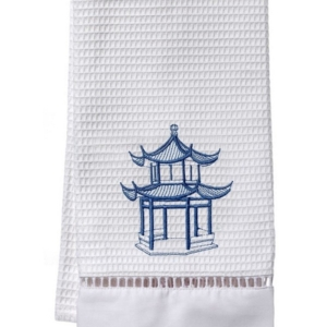 Guest Towel, Waffle Weave - Pagoda (Blue)