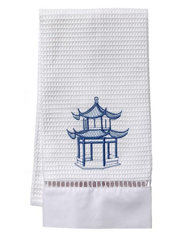 Guest Towel, Waffle Weave - Pagoda (Blue)