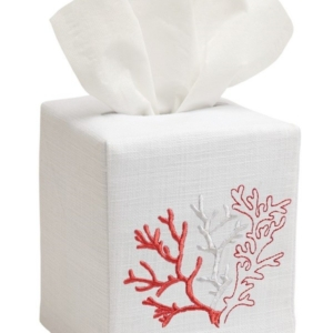 Tissue Box Cover - Coral (Coral)