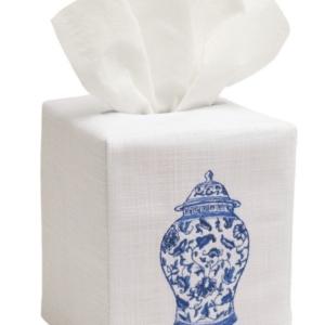 Tissue Box Cover, Linen Cotton - Ginger Jar (Wide)