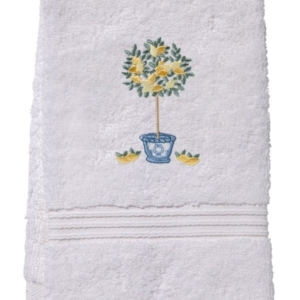 Guest Towel, Terry - Lemon Topiary Tree (Lemon)