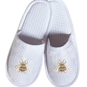 Slippers, (Closed Toe) - Napoleon Bee (Beige)