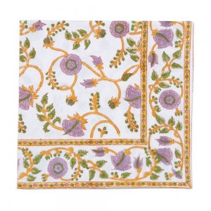 VIBRANT VINES NAPKIN - LILAC.GREEN (SET OF 6)