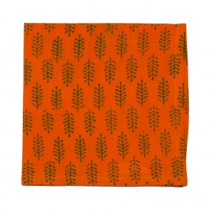 HARVEST NAPKIN - ORANGE/GREEN (SET OF 6)