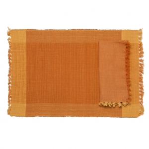 PUMPKIN PATCH NAPKIN - OCHER/YELLOW (SET OF 6)