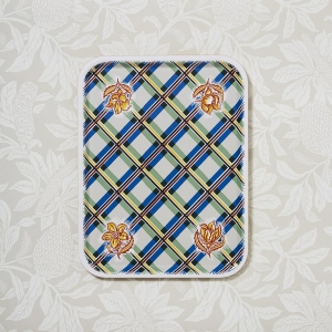 Madras Cream Check Tray