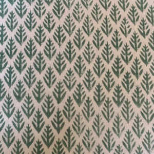 Detail green tablecloth