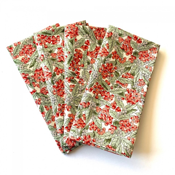 Set of 4 dinner napkins