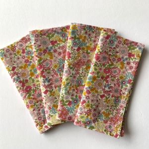 Set of 4 Liberty print cotton dinner napkin