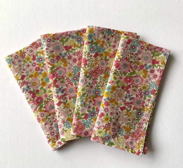 Set of 4 Liberty print cotton dinner napkin