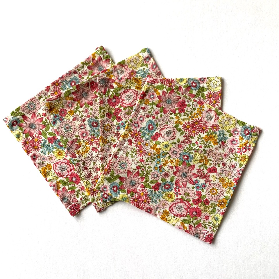 Set of 4 Liberty print Primavera cotton cocktail napkin