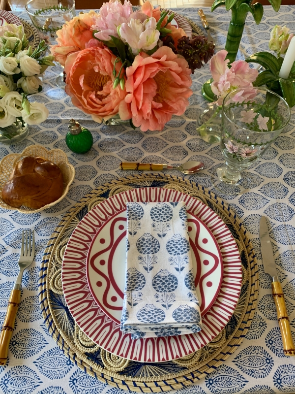 Mother's Day table using Cherry plates