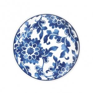 Blue floral sald plate