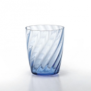 hand blown light blue tumbler