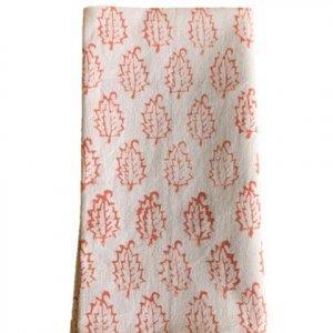 Pink cotton hand printed napkins
