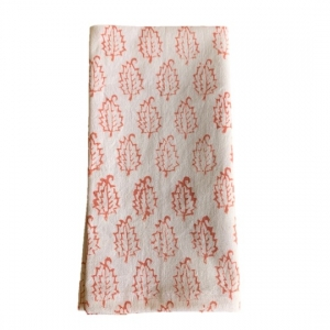 Pink cotton hand printed napkins