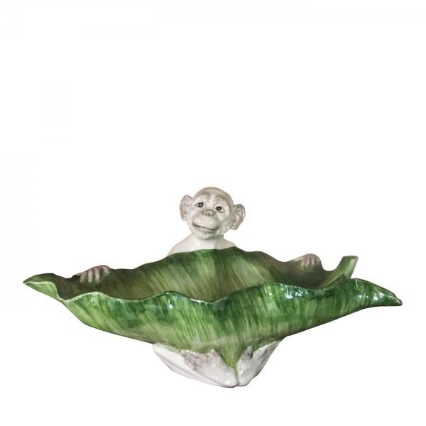 monkey ceramic bowl