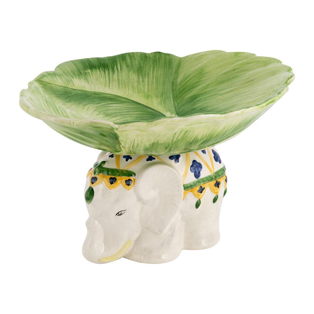 handmade ceramic elephant bowl