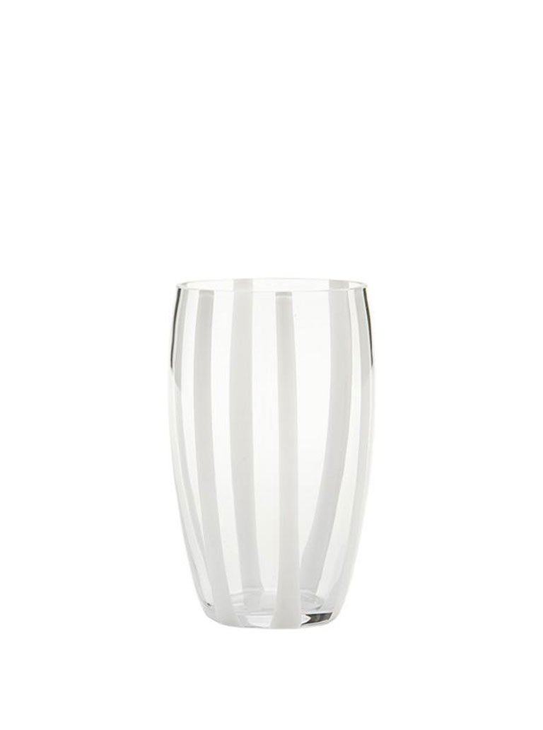 white and transparent hand blown glass