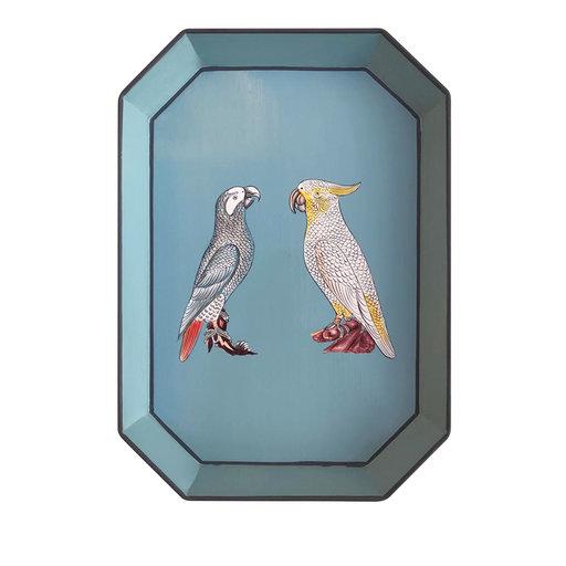 Handpainted parrots Iron Tray