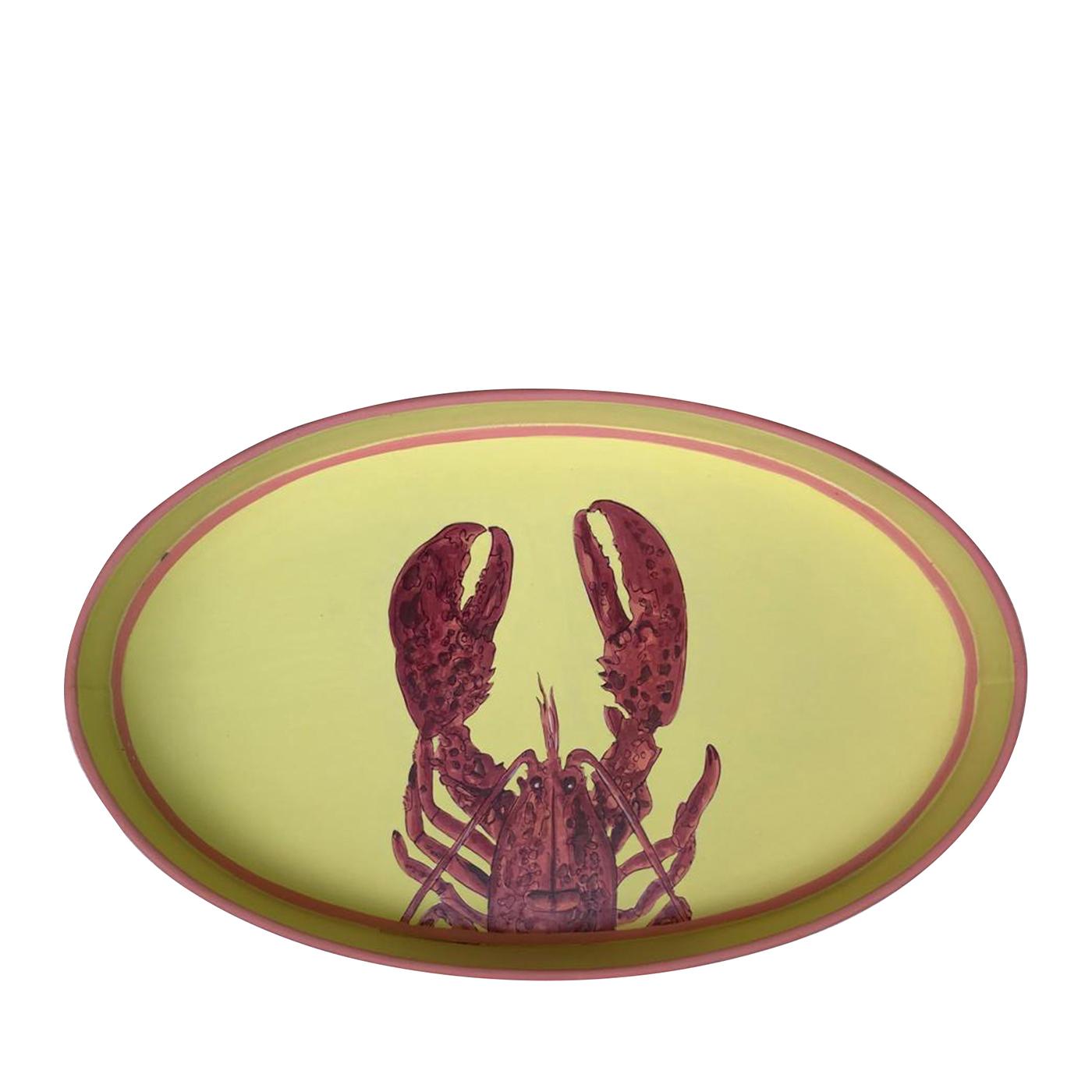 Lobster Yellow Iron tray